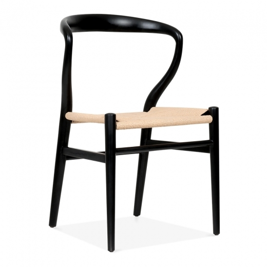 Cult Design Contour Dining Chair - Black / Natural Seat