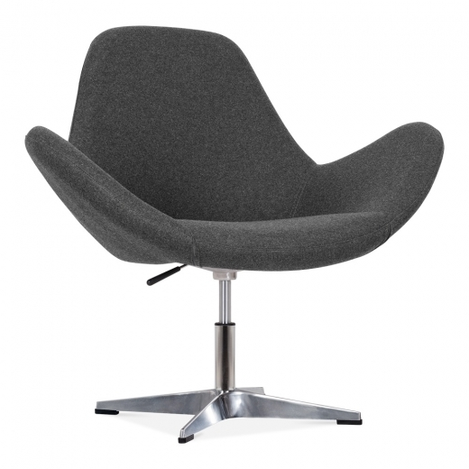 Cult Living Nova Lounge Chair with Aluminium Leg - Dark Grey