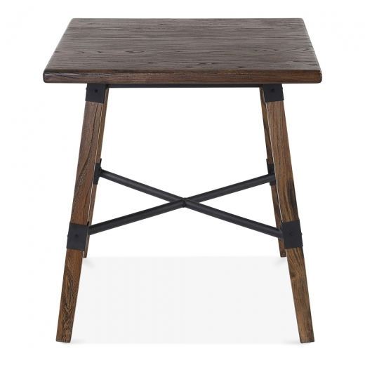 Cult Living Bastille Square Wooden Dining Table - Brown 70cm