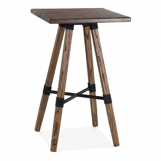 Cult Living Bastille Square Wooden High Table - Brown