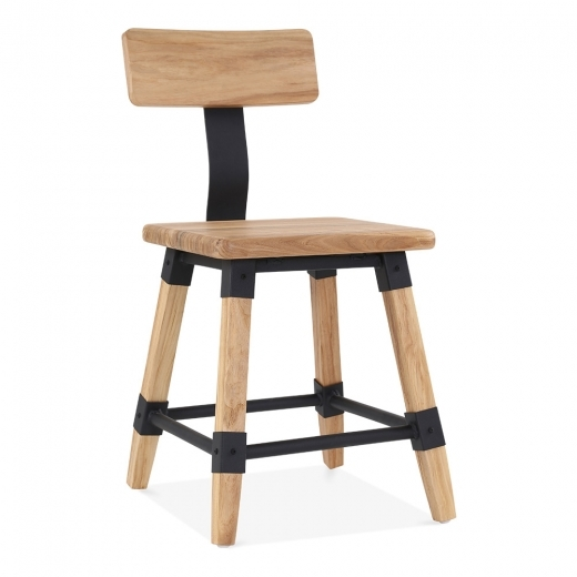 Cult Living Bastille Square Wooden Chair - Natural - Clearance Sale