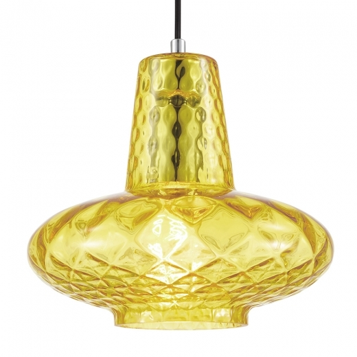 Cult Living Monroe Glass Pendant Light - Yellow