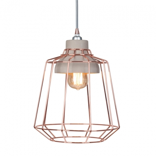 Cult Living Stone Studio Cage Pendant Light - Copper / Concrete