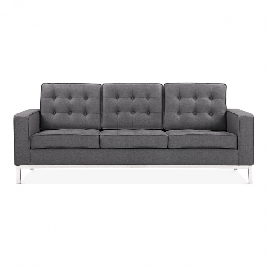 Cult Living Riley 3 Seater Sofa - Dark Grey