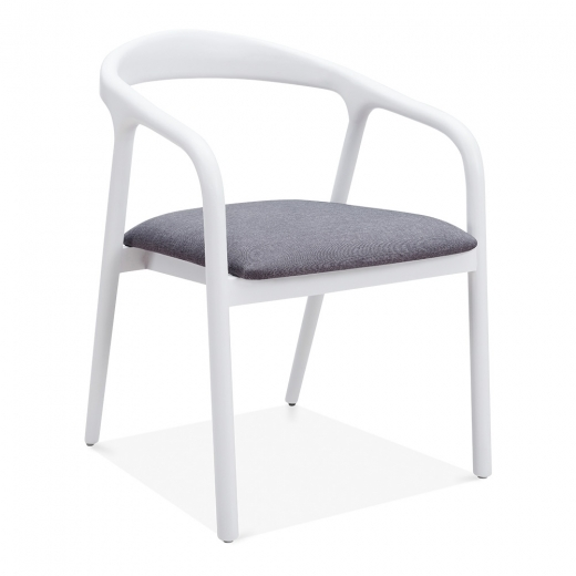 Cult Living Tobias Dining Chair - White / Grey Seat