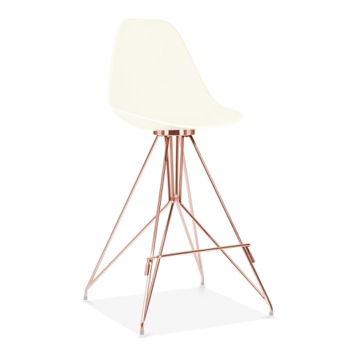 Cult Design Moda Bar Stool with Backrest CD1 - Off White