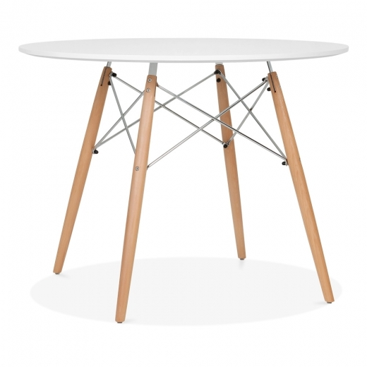 Iconic Designs White DSW Style Dining Round Table - Diameter 100cm
