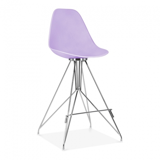 Cult Design Moda Bar Chair with Backrest CD1 - Lavender 74cm