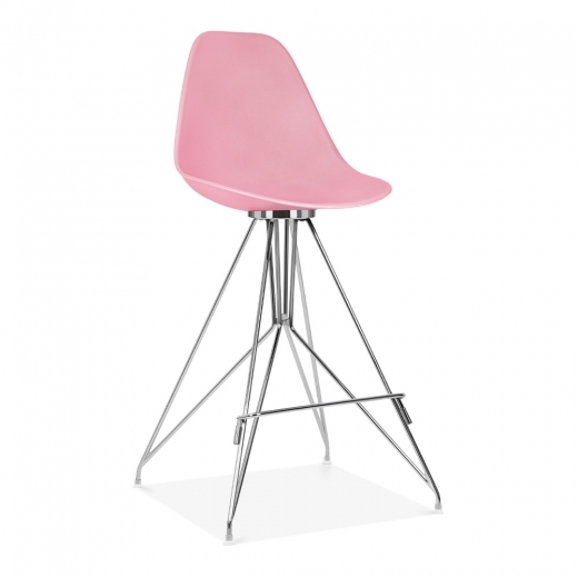 Cult Design Moda Bar Stool with Backrest CD1 - Candy Pink