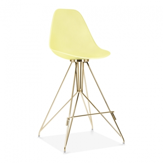 Cult Design Moda Bar Chair with Backrest CD1 - Lemon