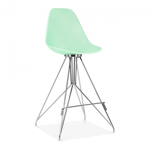 Cult Design Moda Bar Chair with Backrest CD1 - Pastel Green