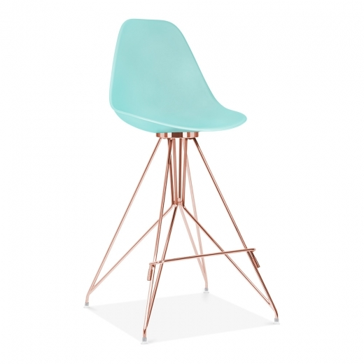 Cult Design Moda Bar Stool with Backrest CD1 - Pastel Blue