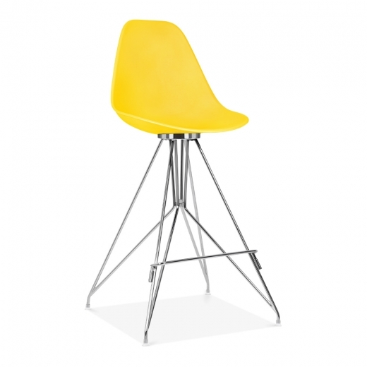 Cult Design Moda Bar Stool with Backrest CD1 - Yellow