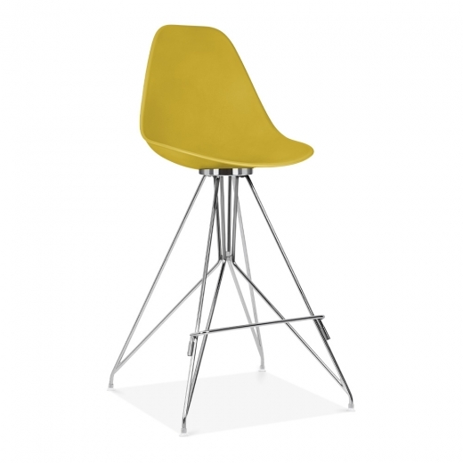 Cult Design Moda Bar Chair with Backrest CD1 - Mustard 74cm