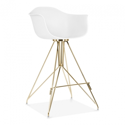 Cult Design Moda Bar Stool with Armrest CD1 - White