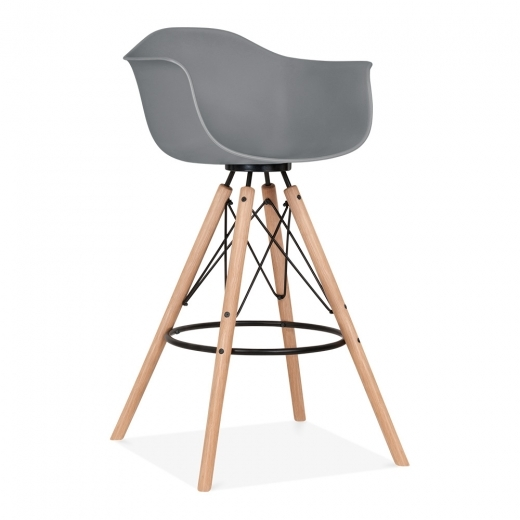 Cult Design Moda Bar Stool with Armrest CD3 - Grey