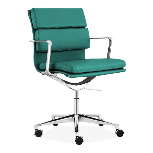 Cult Living Soft Pad Office Chair with Short Back – Teal
