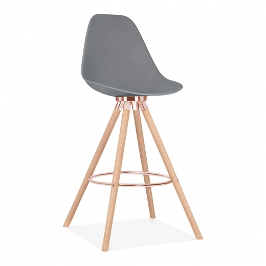 Cult Design Moda Bar Stool with Backrest CD2 - Grey