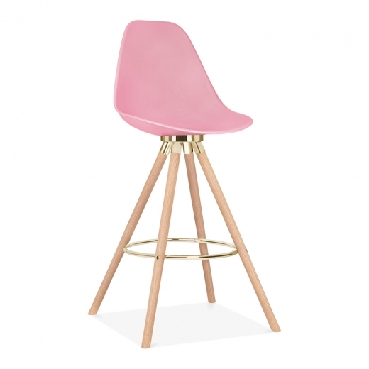 Cult Design Moda Bar Chair with Backrest CD2 - Candy Pink 74cm