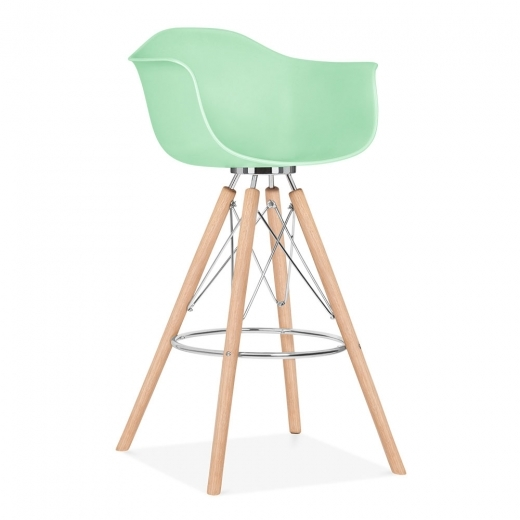 Cult Design Moda Bar Chair with Armrest CD3 - Pastel Green