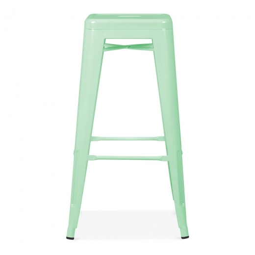 Xavier Pauchard Tolix Style Metal Bar Stool - Peppermint 75cm