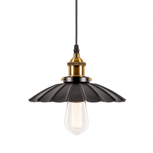 Cult Living Industrial Flower Medium Metal Pendant Light - Black