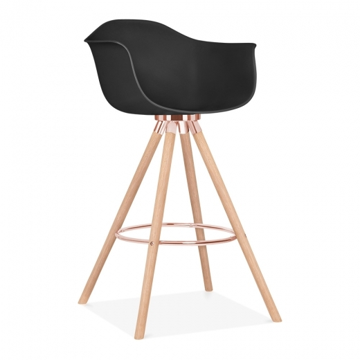 Cult Design Moda Bar Stool with Armrest CD2 - Black - Clearance Sale