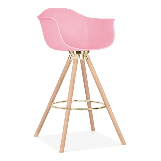 Cult Design Moda Bar Stool with Armrest CD2 - Candy Pink