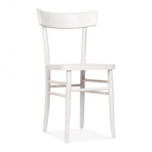 Cult Living Baylor Wooden Dining Chair - White - Clearance Sale