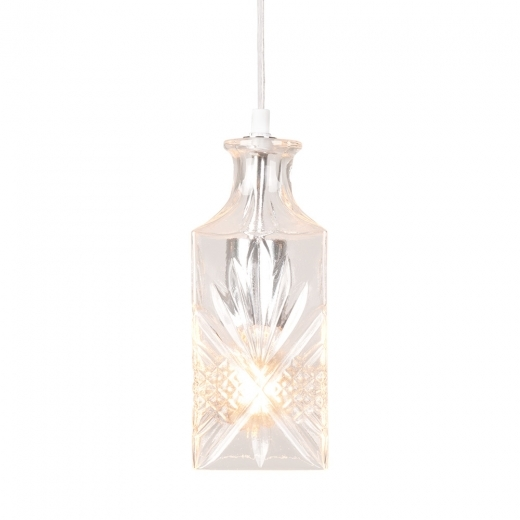 Decanter Lights Cognac Decanter Hanging Light - Clear / Silver