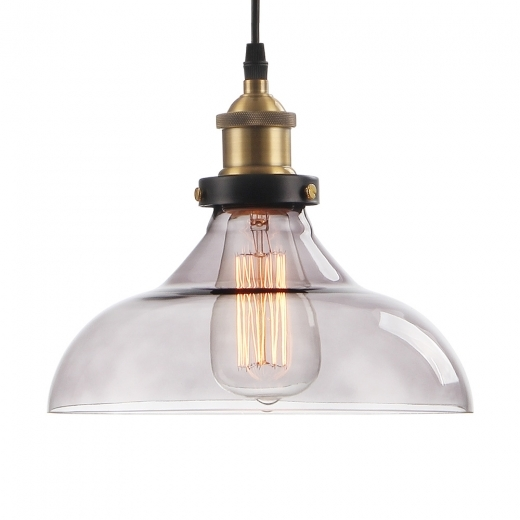 Cult Living Factory Glass Dome Small Pendant Light - Black - Clearance Sale