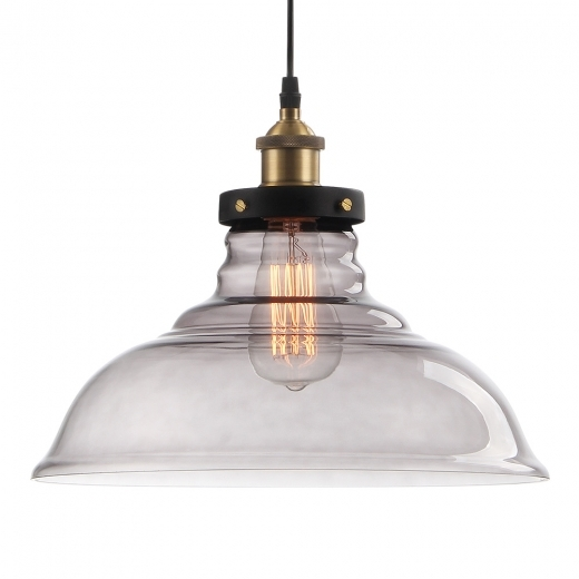 Cult Living Factory Glass Dome Large Pendant Light - Black
