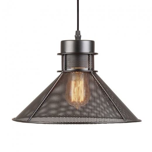 Cult Living Perforated Cone Metal Pendant Light - Black