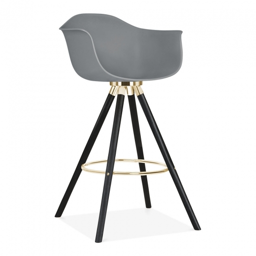 Cult Design Moda Bar Chair with Armrest CD2 - Grey