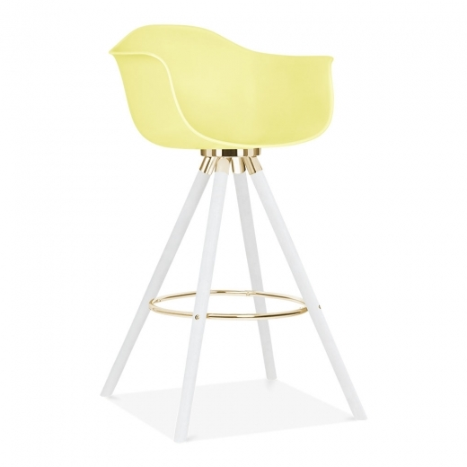 Cult Design Moda Bar Stool with Armrest CD2 - Lemon