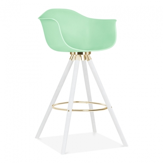 Cult Design Moda Bar Chair with Armrest CD2 - Pastel Green 74cm