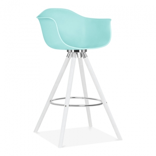 Cult Design Moda Bar Stool with Armrest CD2 - Pastel Blue