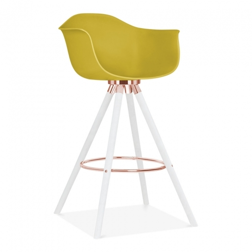 Cult Design Moda Bar Stool with Armrest CD2 - Mustard