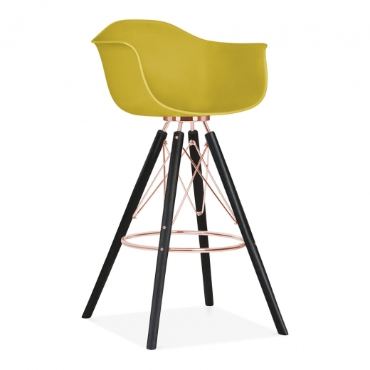 Cult Design Moda Bar Chair with Armrest CD3 - Mustard 74cm