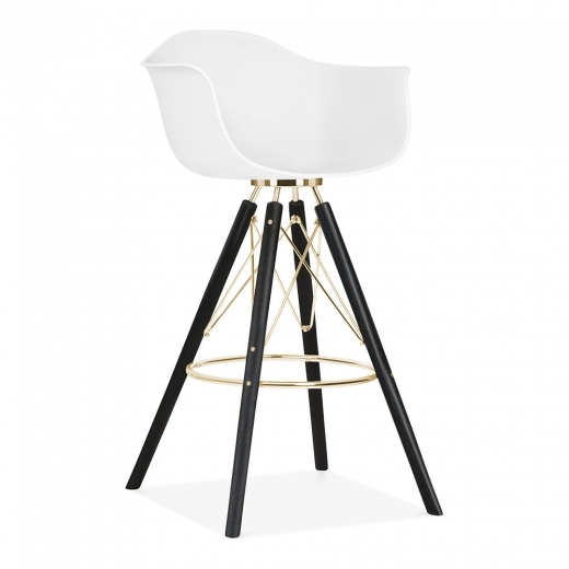 Cult Design Moda Bar Chair with Armrest CD3 - White 74cm