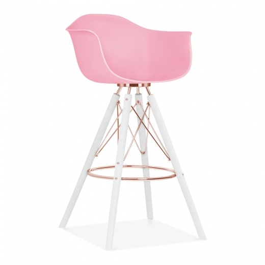 Cult Design Moda Bar Stool with Armrest CD3 - Candy Pink
