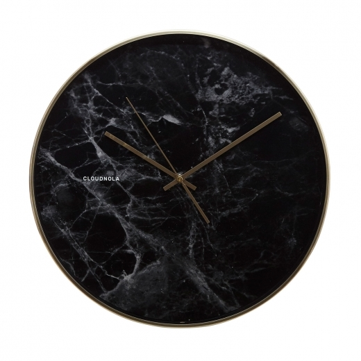 Cloudnola Structure Marble Wall Clock - Black