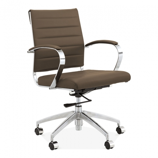 Cult Living Deluxe Office Chair with Short Backrest - Coffee
