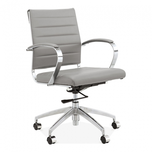 Cult Living Deluxe Office Chair with Short Backrest - Grey