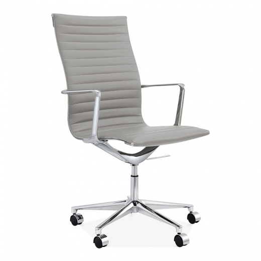 Cult Living Ribbed Office Chair with High Back - Smokey Grey