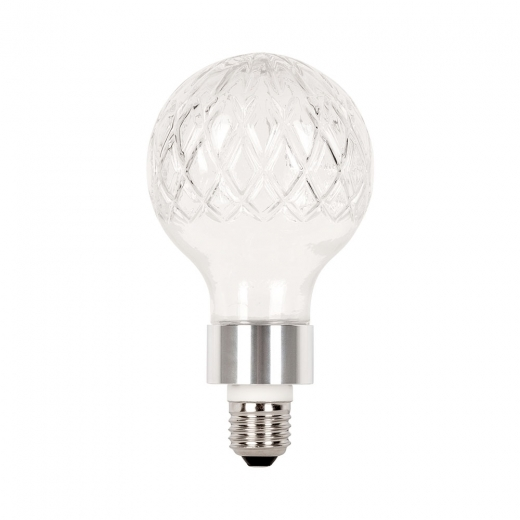 Cult Living Beam Crystal Style Light Bulb with G9 E27 Adapter - Chrome