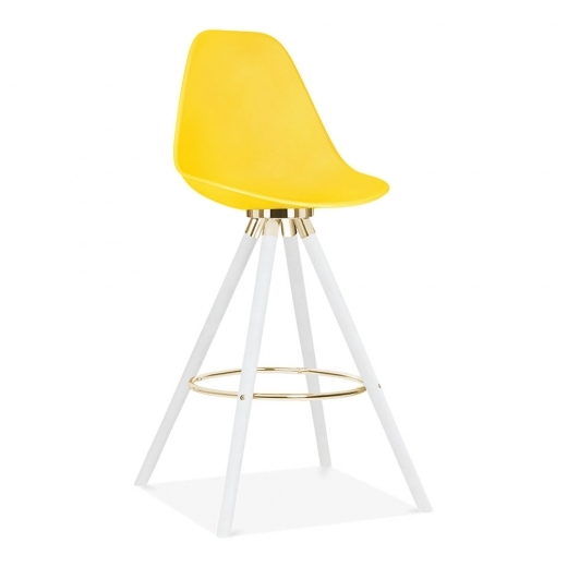Cult Design Moda Bar Chair with Backrest CD2 - Yellow 74cm