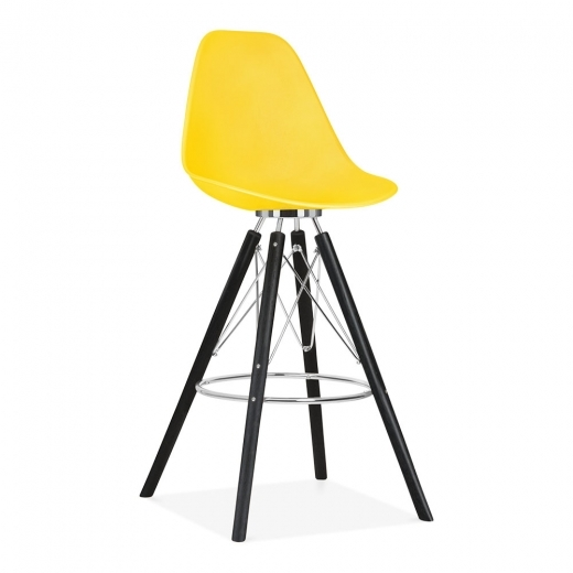 Cult Design Moda Bar Stool with Backrest CD3 - Yellow
