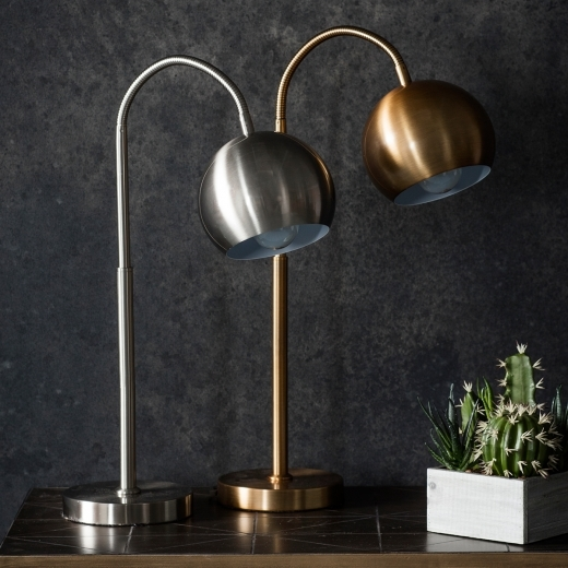 Dante Contemporary Adjustable Desk Lamp, Gold