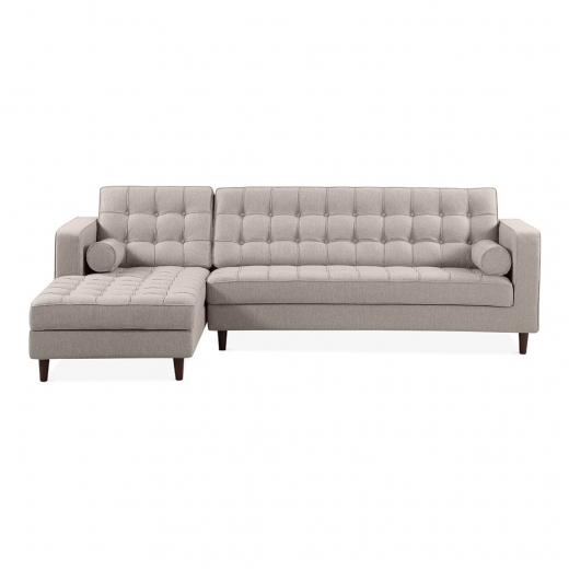 Cult Living Clifford Left Hand Corner Sofa, Fabric Upholstered, Cream